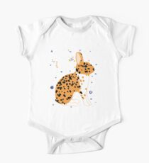 Black Spotted Japanese Rabbit One Piece - Short Sleeve