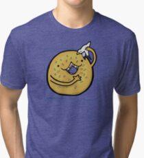 Sesame Bagel :: Carnivorous Foods Series Tri-blend T-Shirt