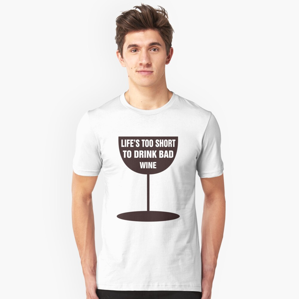 Bad Wine Unisex T-Shirt Front