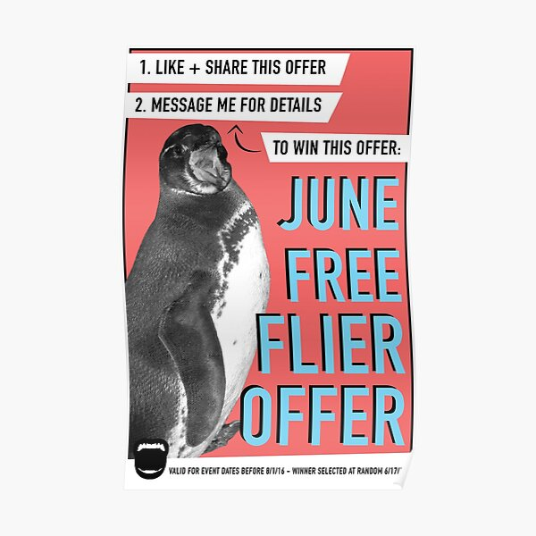 June Free Flier Offer  Poster