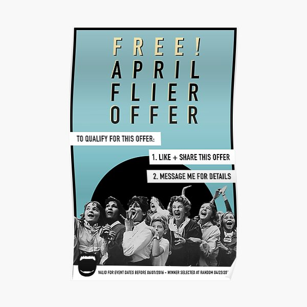 April Free Flier Offer  Poster