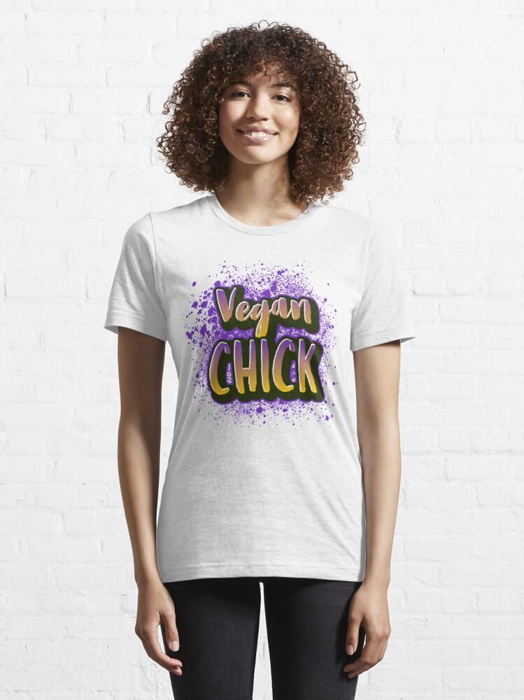 Alternate view of Vegan Chick Essential T-Shirt