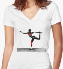 Grace Jones - Island Life Women's Fitted V-Neck T-Shirt