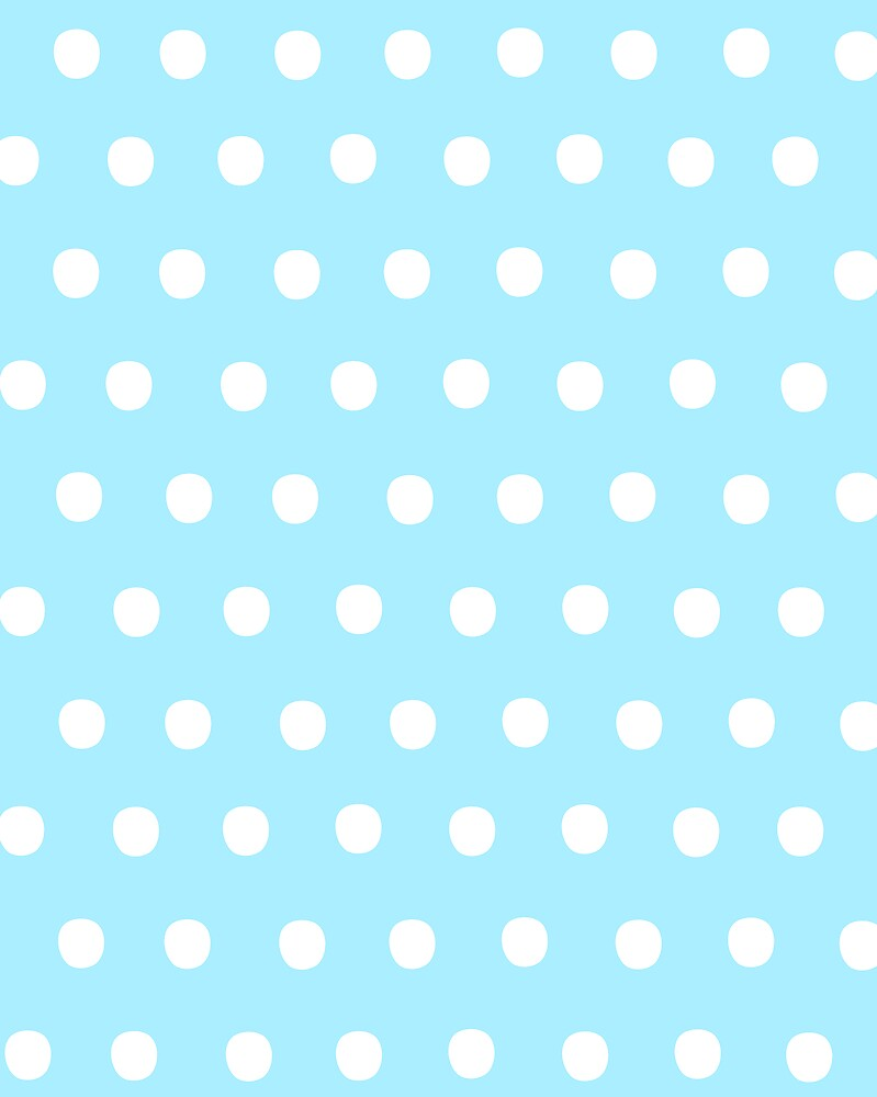 White on Blue Polka Dots by OneWeirdDude