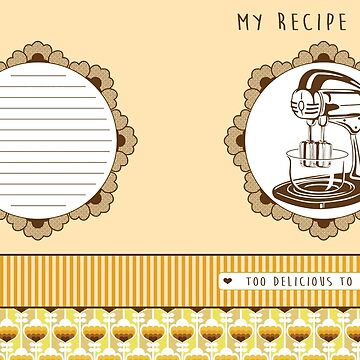 Lemon Retro Recipe Book  by trossi