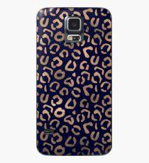 Kupfer und Leopard Hülle & Klebefolie für Samsung Galaxy