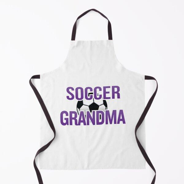 'Soccer Grandma' (White) Apron