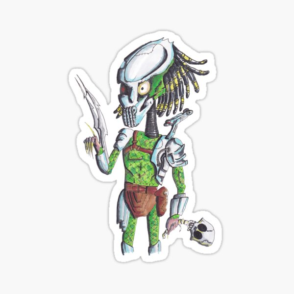 Predator in a Tim Burton Style Sticker