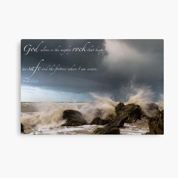 Psalm 62:2 Canvas Print