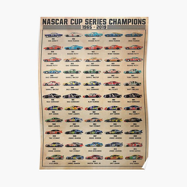 Nascar Cup Series Champions Poster Poster