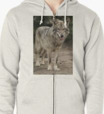 Rescued Timber Wolf 1 Zipped Hoodie