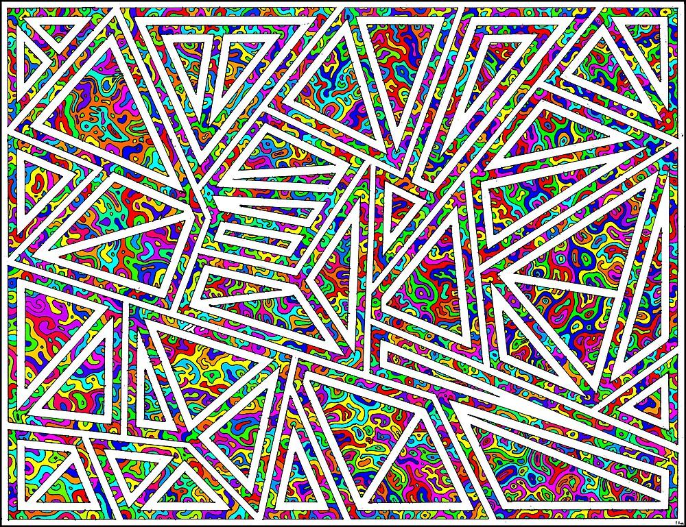 Triangle Swirls by enoyes