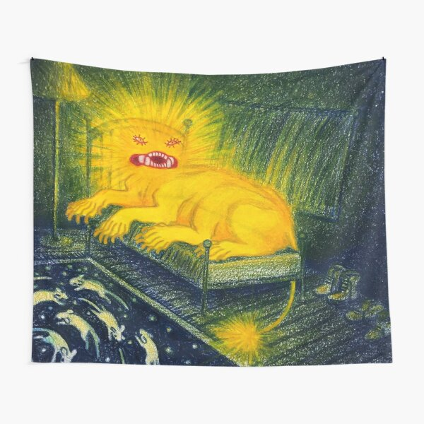 The angel came to me in a fever hallucination, perched upon my bed as I returned from the bathroom. Tapestry
