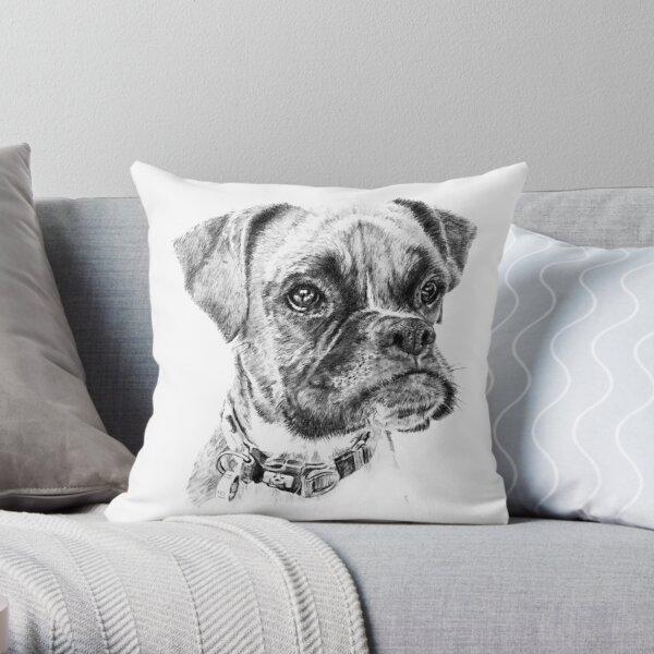 Evie the Boxer Throw Pillow