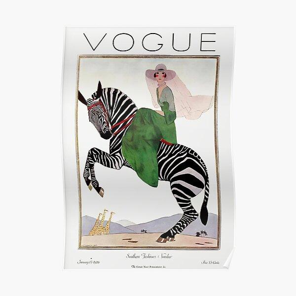 vintage vogue cover - 1918 Poster