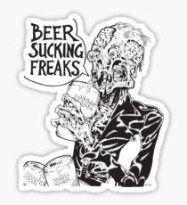 Beer Sucking Freaks (black) Sticker