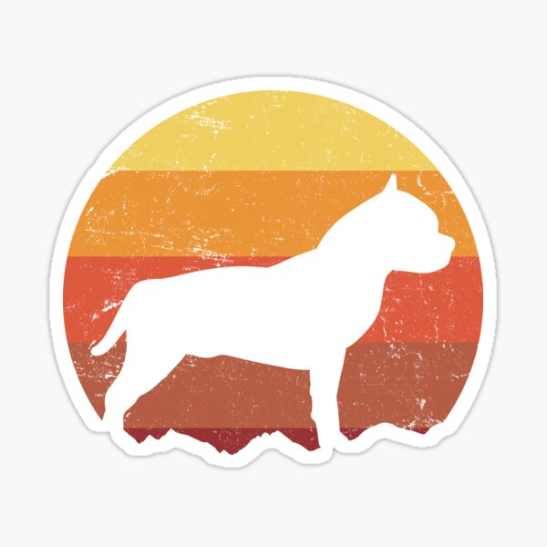 American Staffordshire Terrier Decal Sticker Choose Pattern Size #1911