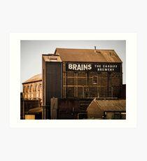 Brains Brewery, Cardiff, Wales Art Print