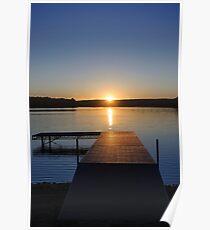 Sunset on Bear Creek Lake Poster