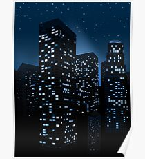Night Cityscape Background 2 Poster
