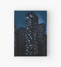 Night Cityscape Background 2 Hardcover Journal