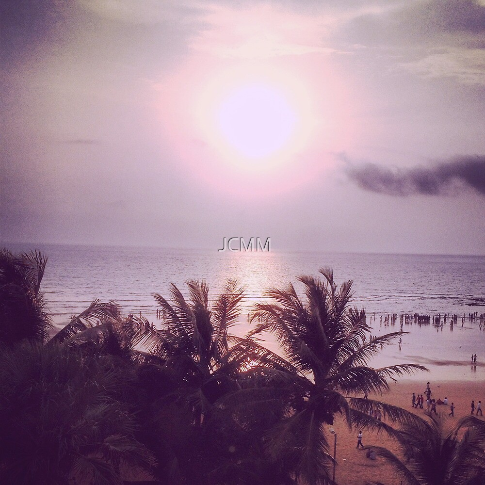 Juhu Beach Sunset, Mumbai, India. by JCMM