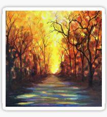 Flaming Sunset Australian Bush Scenery  Sticker