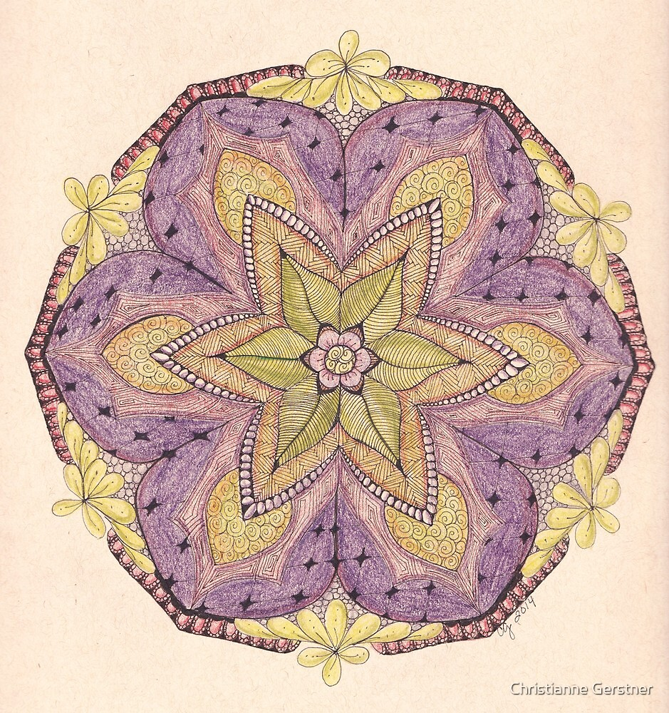Tangled Mandala in Color by Christianne Gerstner