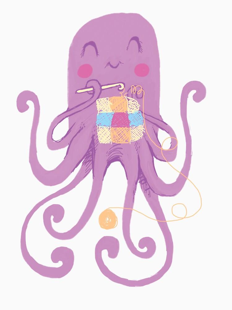 Crocheting Octopus by Bakword
