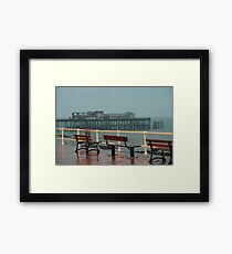 Waiting for the People to arrive tomorrow Framed Print