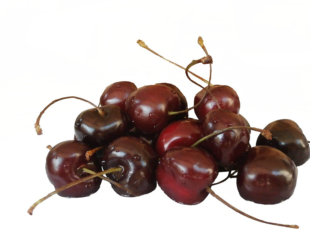 Pile with cherry, withour background. by PanosVal