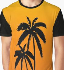 Palm Trees Sunset Graphic T-Shirt