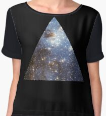Blue Galaxy Triangle Chiffon Top