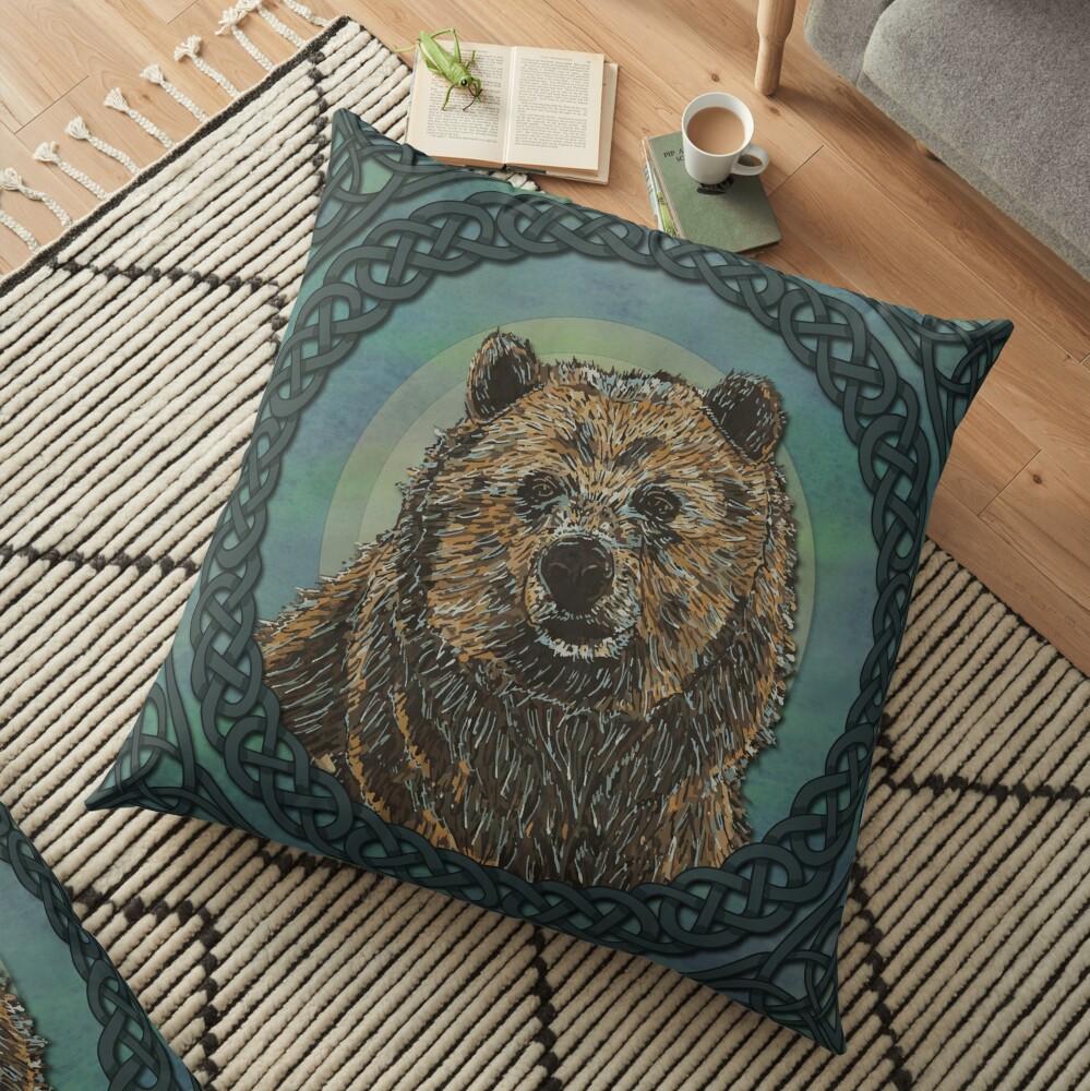 Brown Bear Floor Pillow