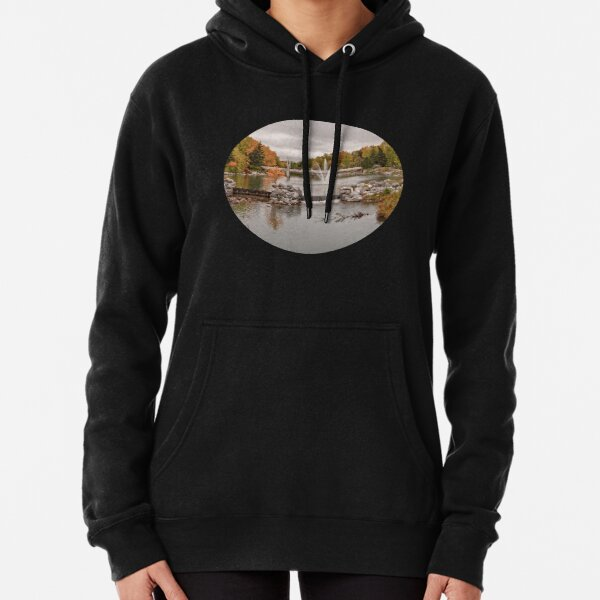 Autumn in Prince's Island Park Calgary Canada Pullover Hoodie
