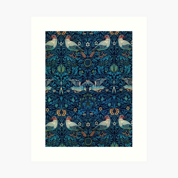 Patrón de pájaros de William Morris Lámina artística