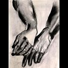 Two Large Left Hands by Marsha Hallet