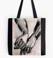 Two Large Left Hands Tote Bag