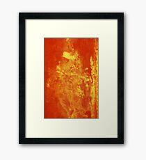 Orange Ripple Framed Print