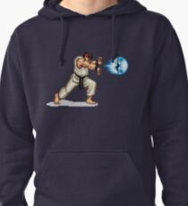 Hadouken! 8-bit Ryu. Pullover Hoodie