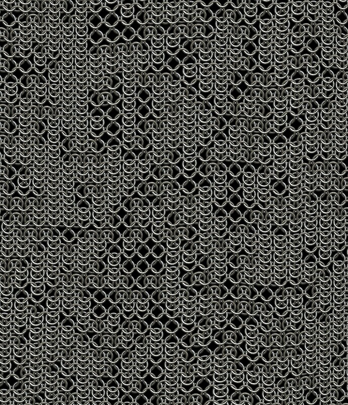 quottattered silver medieval chainmail armour texture