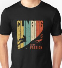 CLIMBING IS MY PASSION Slim Fit T-Shirt