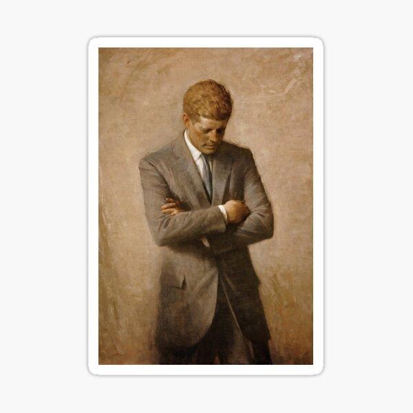 John F Kennedy Official Portrait by Aaron Shikler Sticker