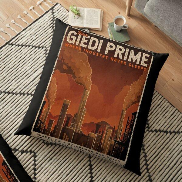 Giedi Prime Retro Vintage Tourism Decal Floor Pillow