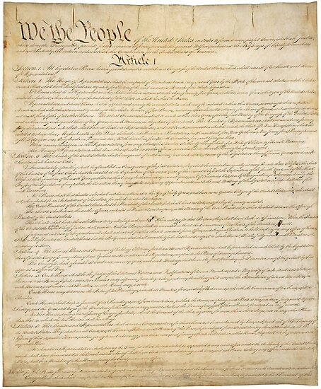 Page 1 of the United States Constitution by allhistory