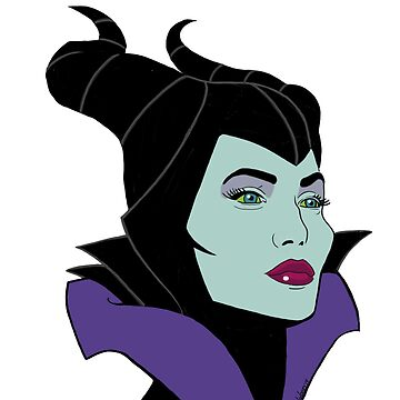 Angelina Jolie as Cartoon Maleficent  by Free2rocknroll