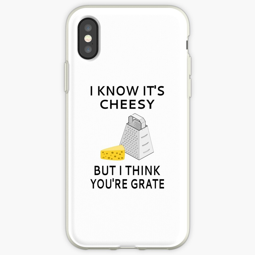 I Know It's Cheesy But I Think You're Grate iPhone Case & Cover