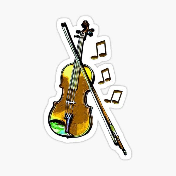 Legakulie  Geige gelb Sticker