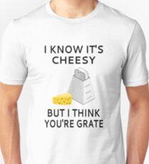 Ich weiß, es ist kitschig, aber ich denke, du bist Rost Slim Fit T-Shirt
