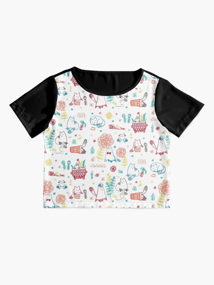 Alternate view of Cats in the garden Chiffon Top